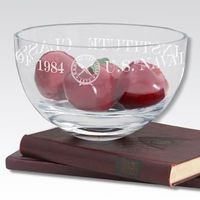 "USNI 10"" Glass Celebration Bowl"