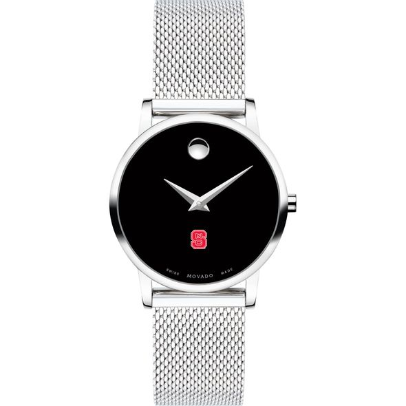 North Carolina State Women's Movado Museum with Mesh Bracelet - Image 2