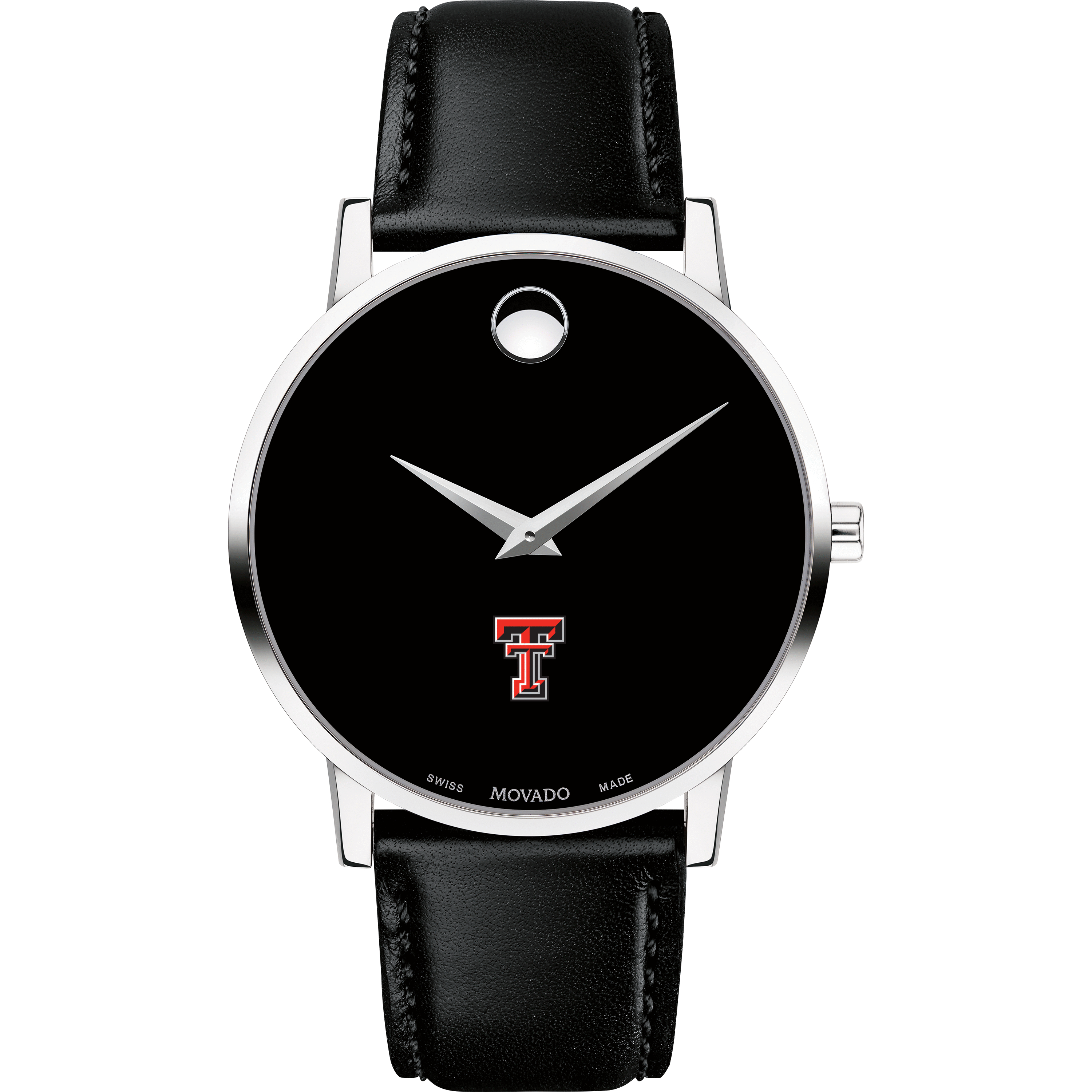 Texas Tech Men's Movado Museum with Leather Strap - Image 2