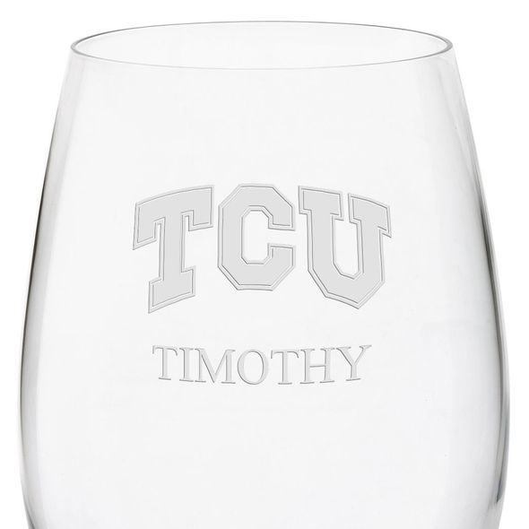 Texas Christian University Red Wine Glasses - Set of 4 - Image 3