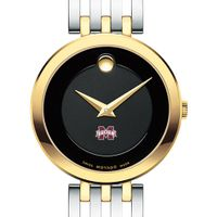 MS State Women's Movado Esparanza Two-Tone Museum with Bracelet