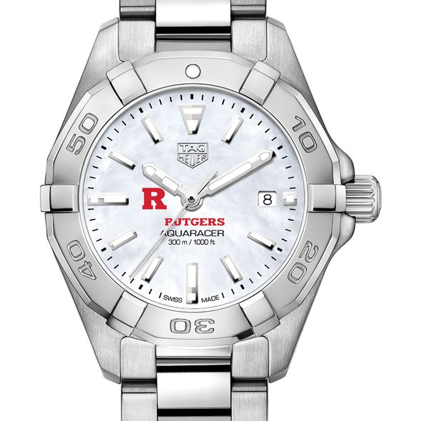 Rutgers University Women's TAG Heuer Steel Aquaracer w MOP Dial - Image 1