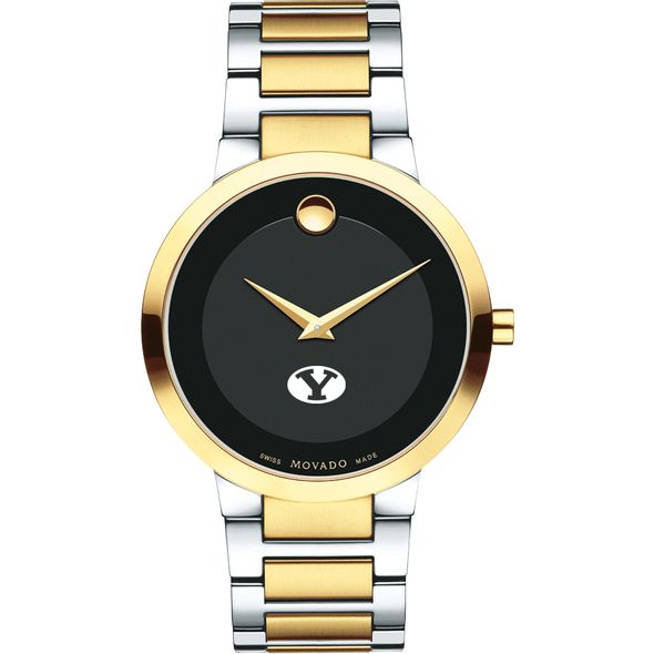 Brigham Young University Men's Movado Two-Tone Modern Classic Museum with Bracelet - Image 2