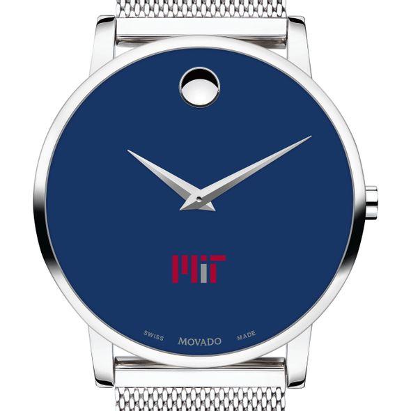 MIT Men's Movado Museum with Blue Dial & Mesh Bracelet