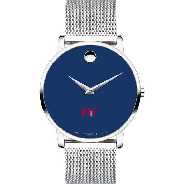 MIT Men's Movado Museum with Blue Dial & Mesh Bracelet - Image 2
