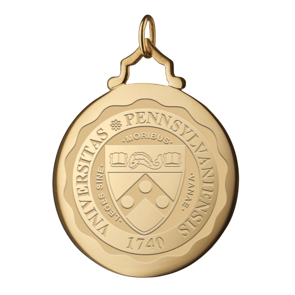 Penn Monica Rich Kosann Round Charm in Gold with Stone - Image 2