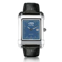 Men's Blue Quad Watch with Leather Strap