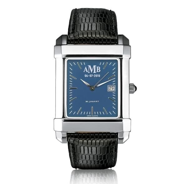 Men's Blue Quad Watch with Leather Strap - Image 1