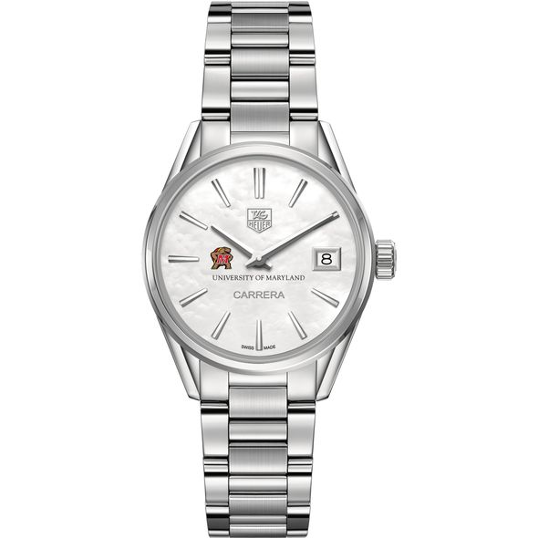 University of Maryland Women's TAG Heuer Steel Carrera with MOP Dial - Image 2