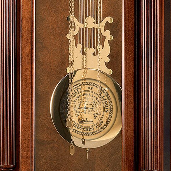 University of Illinois Howard Miller Grandfather Clock - Image 2