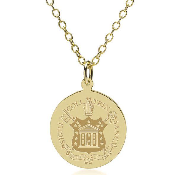 Trinity College 18K Gold Pendant & Chain