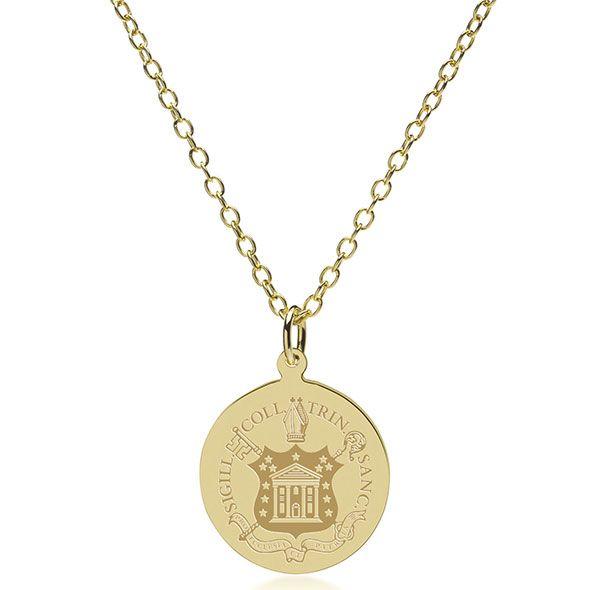 Trinity College 18K Gold Pendant & Chain - Image 2