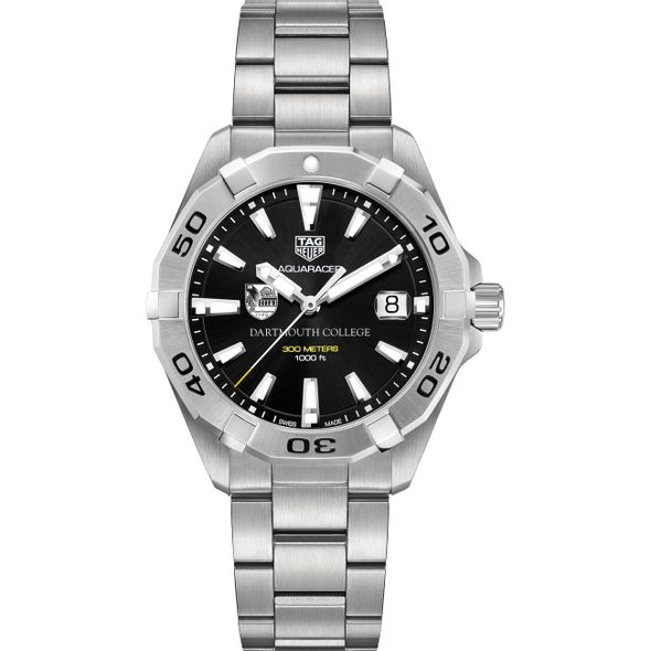 Dartmouth College Men's TAG Heuer Steel Aquaracer with Black Dial - Image 2