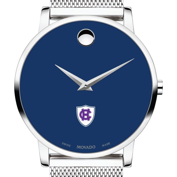 Holy Cross Men's Movado Museum with Blue Dial & Mesh Bracelet