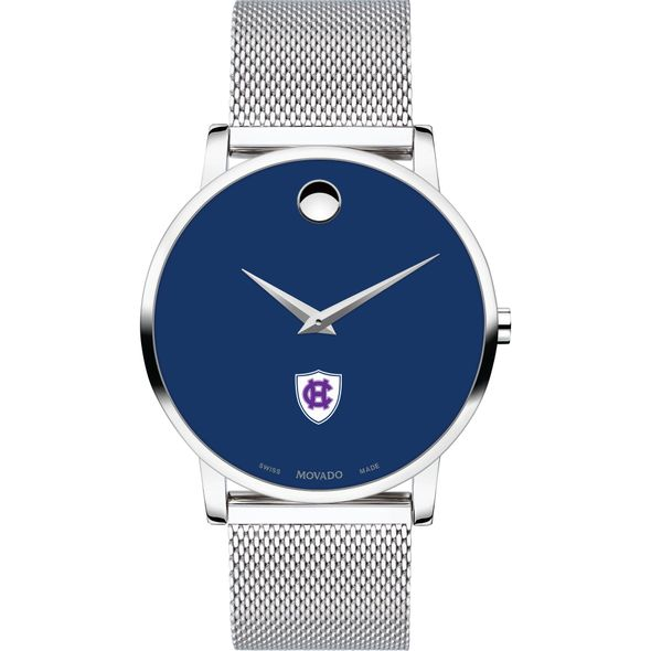 Holy Cross Men's Movado Museum with Blue Dial & Mesh Bracelet - Image 2
