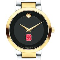 North Carolina State Men's Movado Two-Tone Modern Classic Museum with Bracelet