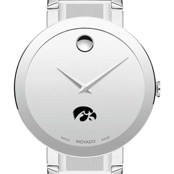 University of Iowa Men's Movado Sapphire Museum with Bracelet