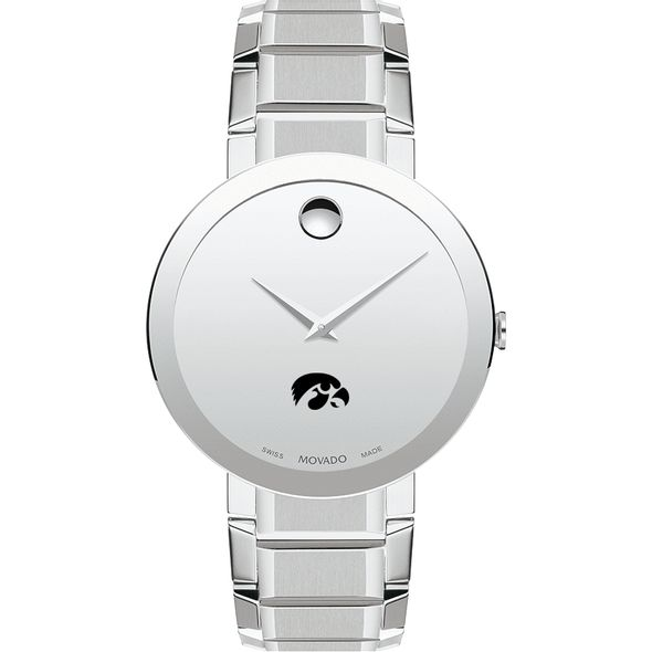 University of Iowa Men's Movado Sapphire Museum with Bracelet - Image 2