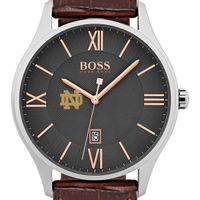 University of Notre Dame Men's BOSS Classic with Leather Strap from M.LaHart