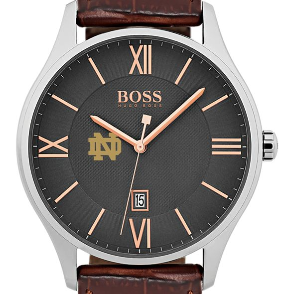 University Of Notre Dame Mens Boss Classic With Leather Strap From