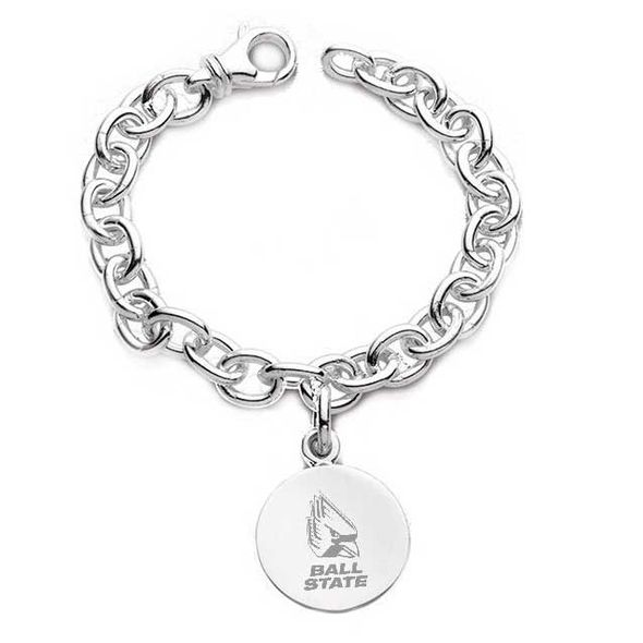Ball State Sterling Silver Charm Bracelet - Image 1