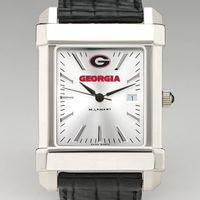 Georgia Men's Collegiate Watch with Leather Strap