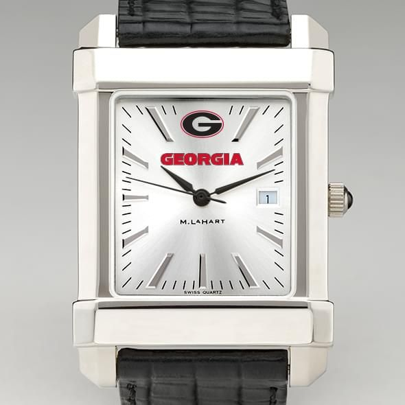 Georgia Men's Collegiate Watch with Leather Strap
