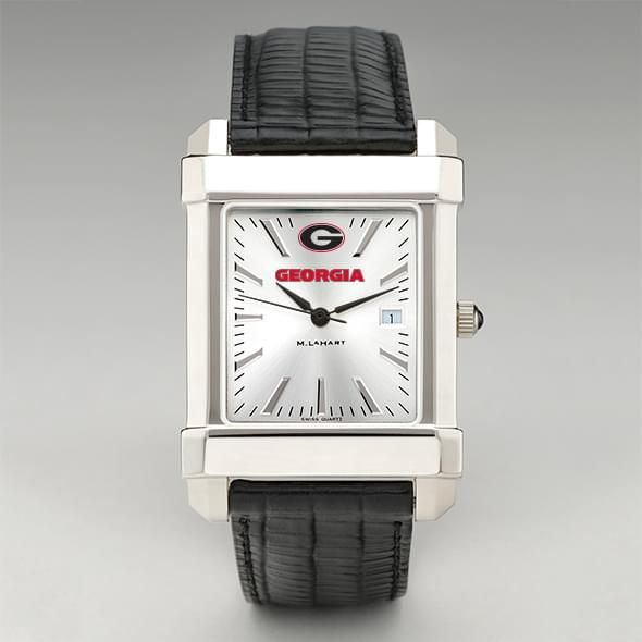 Georgia Men's Collegiate Watch with Leather Strap - Image 2