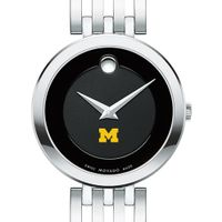 University of Michigan Women's Movado Esparanza Stainless Steel Museum with Bracelet