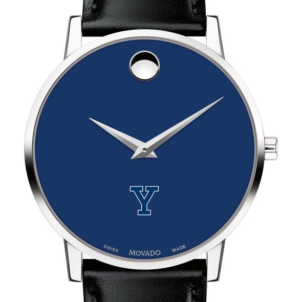 Yale University Men's Movado Museum with Blue Dial & Leather Strap