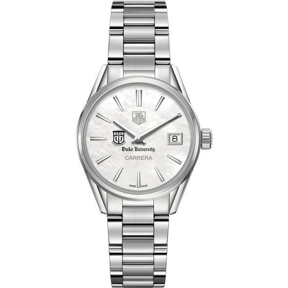 Duke University Women's TAG Heuer Steel Carrera with MOP Dial - Image 2