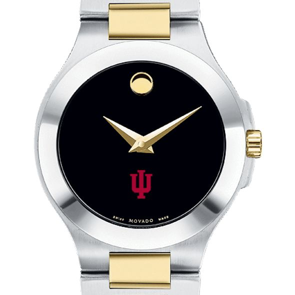 Indiana Women's Movado Collection Two-Tone Watch with Black Dial - Image 1