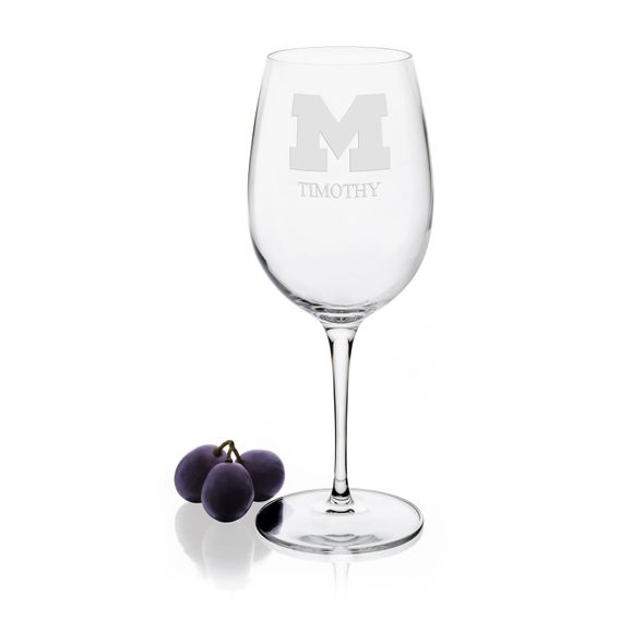 University of Michigan Red Wine Glasses - Set of 4 - Image 1