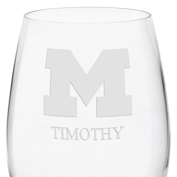 University of Michigan Red Wine Glasses - Set of 4 - Image 3