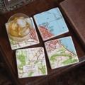 Custom Map Marble Coasters - Image 1