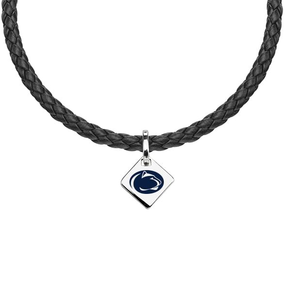 Penn State Leather Necklace with Sterling Silver Tag