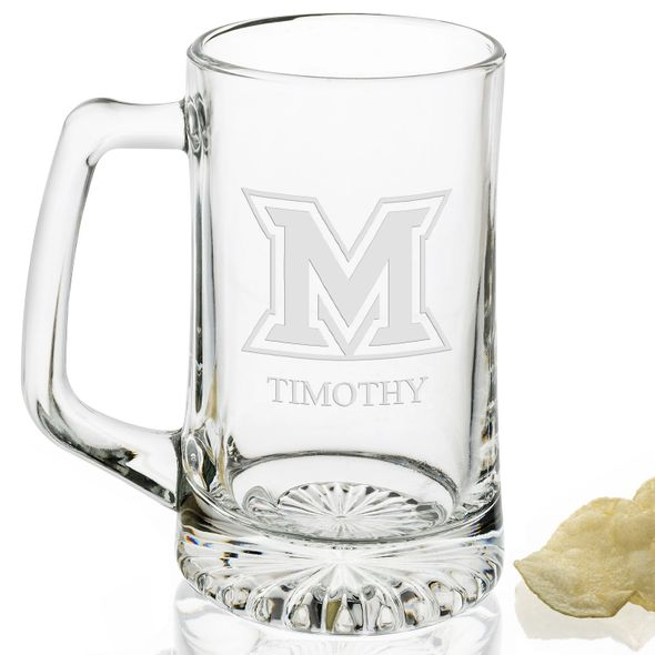 Miami University 25 oz Beer Mug - Image 2