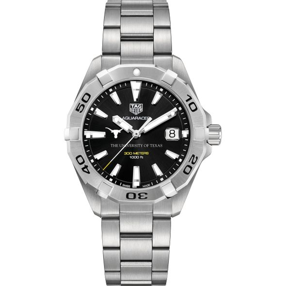 Texas Men's TAG Heuer Steel Aquaracer with Black Dial - Image 2