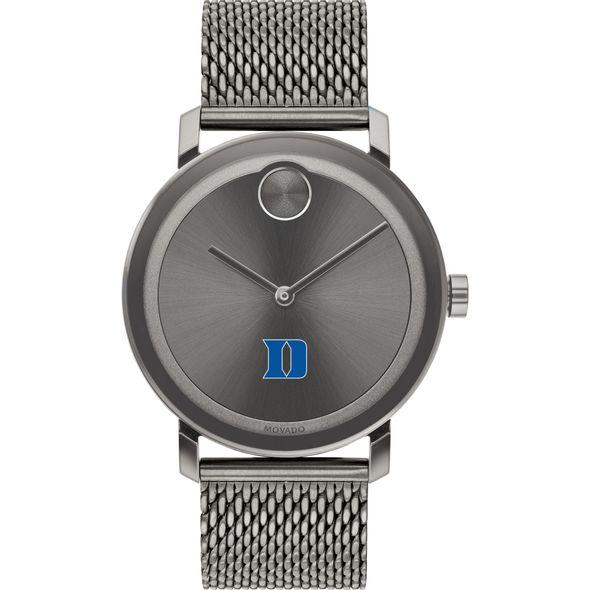 Duke University Men's Movado BOLD Gunmetal Grey with Mesh Bracelet - Image 2