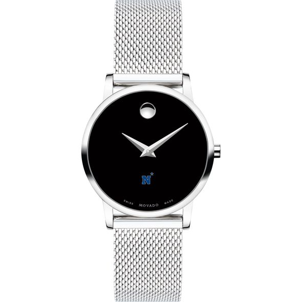US Naval Academy Women's Movado Museum with Mesh Bracelet - Image 2