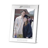 Purdue University Polished Pewter 5x7 Picture Frame