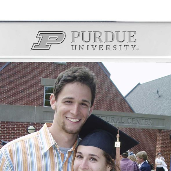 Purdue University Polished Pewter 5x7 Picture Frame - Image 2