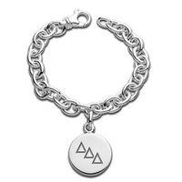 Delta Delta Delta Sterling Silver Charm Bracelet