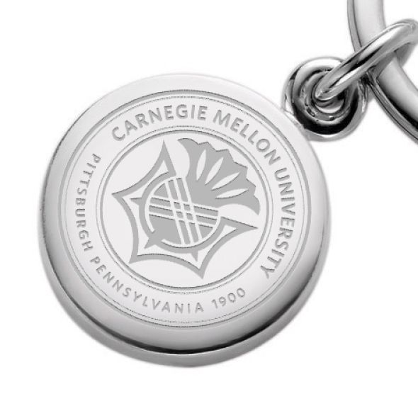 Carnegie Mellon University Sterling Silver Insignia Key Ring - Image 2