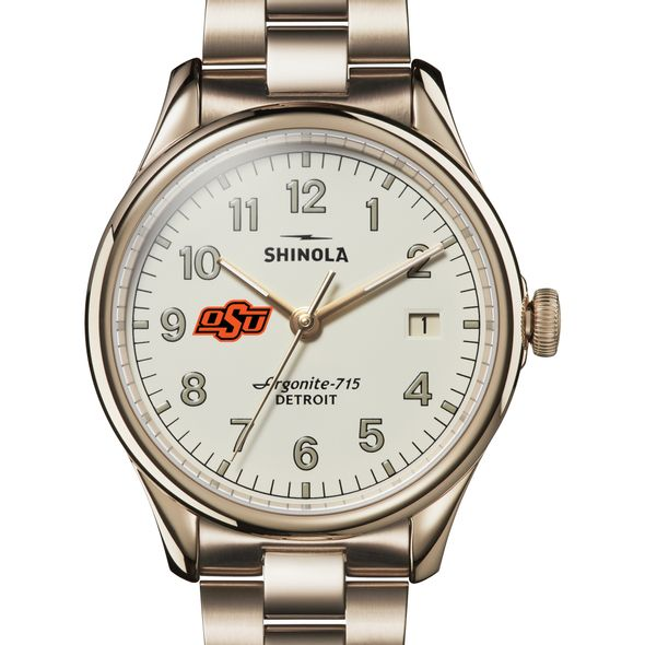 Oklahoma State Shinola Watch, The Vinton 38mm Ivory Dial