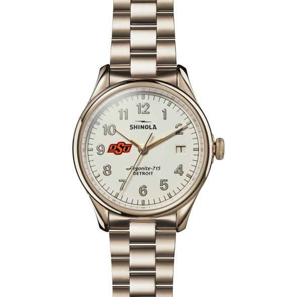 Oklahoma State Shinola Watch, The Vinton 38mm Ivory Dial - Image 2