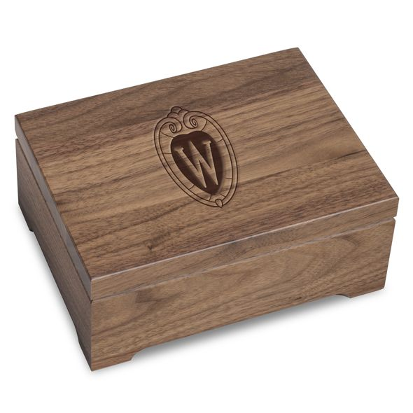 University of Wisconsin Solid Walnut Desk Box - Image 1