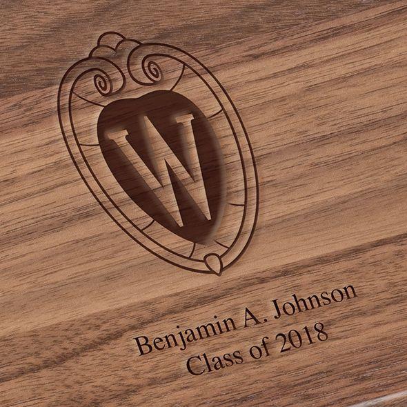 University of Wisconsin Solid Walnut Desk Box - Image 3