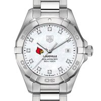 University of Louisville W's TAG Heuer Steel Aquaracer w MOP Dia Dial