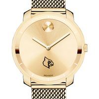 University of Louisville Women's Movado Gold Bold 36